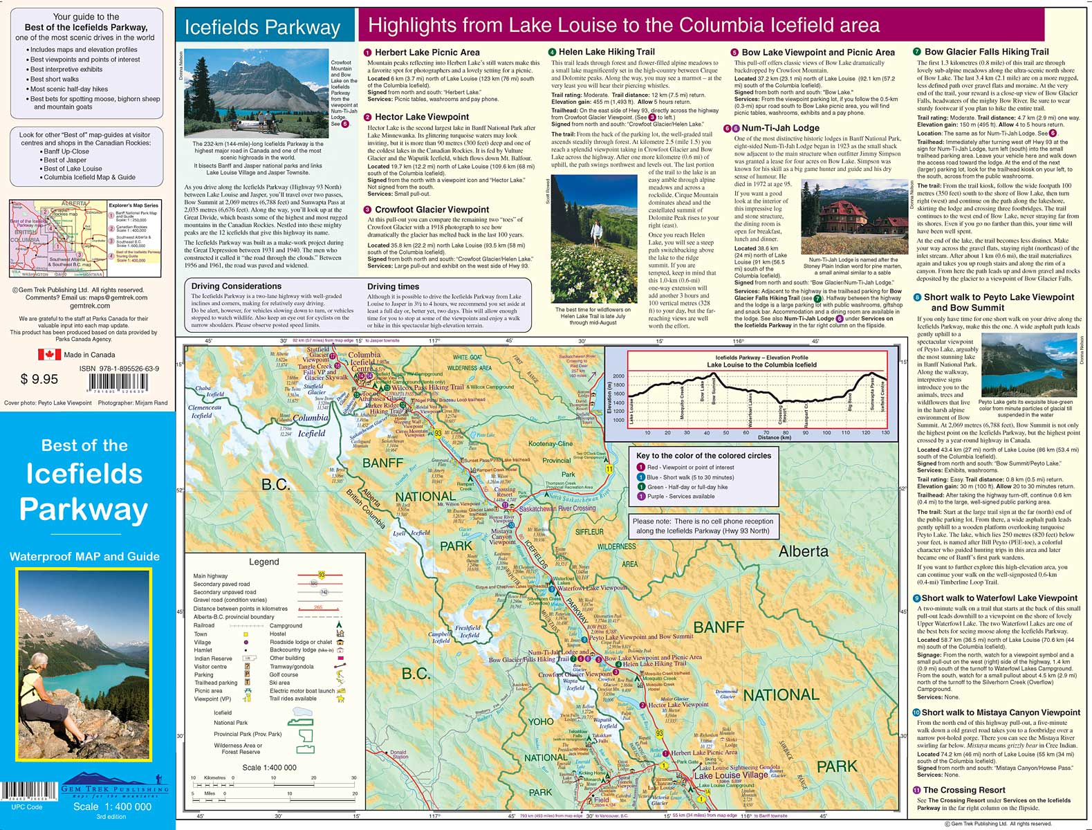 Icefields Parkway Map Best of the Icefields Parkway Map
