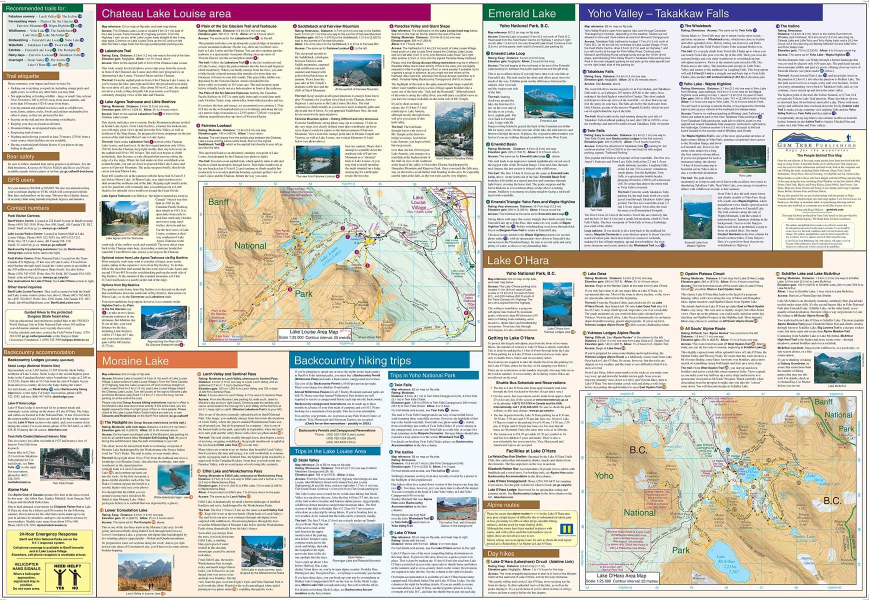 Lake Louise & Yoho Map | Canadian Rockies