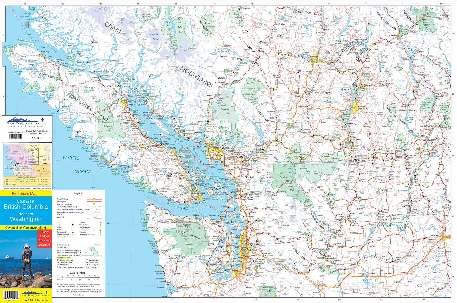 Southwest British Columbia & Northern Washington Map